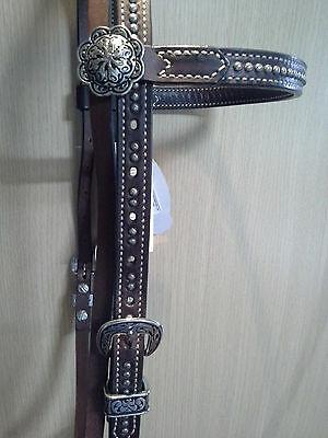 Weaver Austin Collection Bridle Headstall - Brown