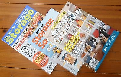 Lot of 3 STORAGE & ORGANIZING MAGAZINES Home Improvement SOUTHERN LIVING Shelf