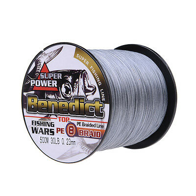 8 Strands Strong 100% PE Dyneema Braided Fishing Line 100M 300M 500M 1000M Gray