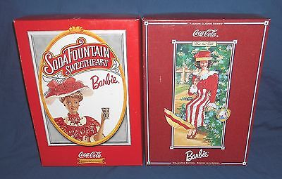 2 Coca Cola Barbie Dolls ~ Fashion Classic Series Collector's Lot Soda Fountain