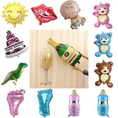 Ballon Champagner Flasche Glas Sonne Lippen Folie Ballons Happy Birthday Party