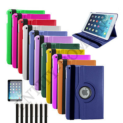 Smart 360 Degree Rotating Leather Stand Case Cover For iPad Mini 2 3 4 Pro AIR
