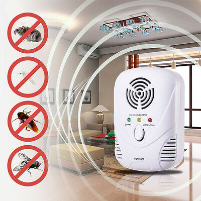 Wave Ultrasonic Mosquito Fly Cockroach Repeller Mice Rat Dispeller Pest Rodent