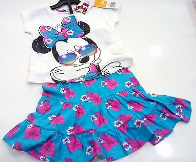 Completo Per Bambina Disney Di Minnie T-Shirt E Gonna