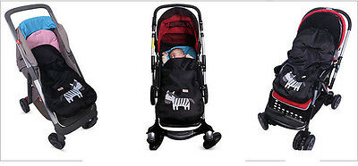 Baby Stroller Zebra Footmuff Fit Buggy Pushchair Pram Fleece Warm Cose Toes