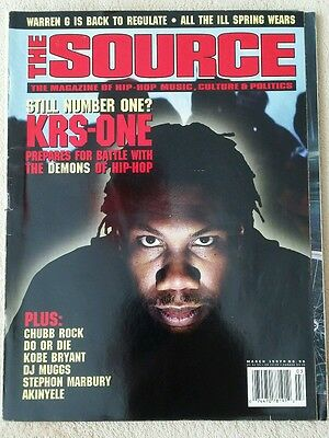 The Source Magazine March 1997 Issue no.90 KRS-ONE Cover Rap Hip-Hop R&B