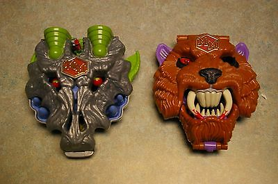Vintage Set Of 2 Mighty Max Playsets 'battlecat' And 'wolfship' Variant