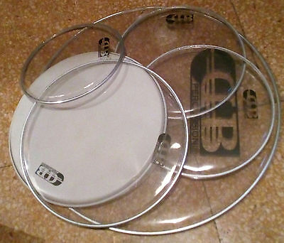 6 pelli batteria DB Percussion pelle skin drums 22/14/12/10 condition as new