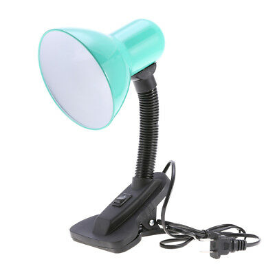 Flexible Reading Light Office Study Bedside Clip Bed Table Desk Lamp Lampshade