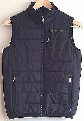 Vineyard Vines Vest Mountain Weekend Boys Size M 12-14 Navy Blue Whale Line