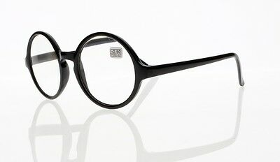 Black Oversized Big Large Round Reading Glasses Readers +1.00 ~ +4.00 Presbyopia