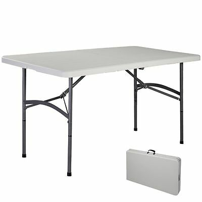 5-ft Foldable Camping Trestle Carry Table Party Picnic BBQ Stall Garden Indoors