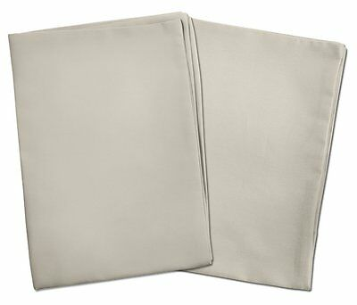 2 Light Gray Toddler Pillowcases - Envelope Style - For Pillows Sized 13x18 and