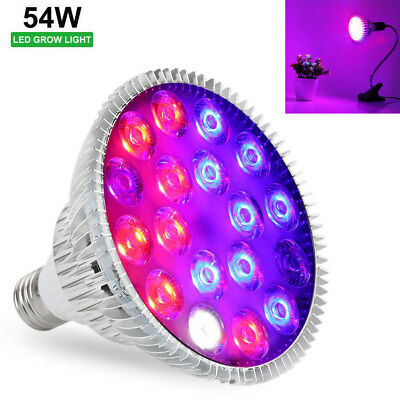 Full Spectrum 54W E27 18LED Plant Grow Light Bulb Indoor Hydroponic Plants Veg
