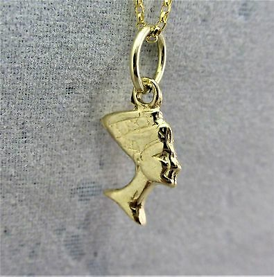 "9ct Solid 3D Yellow gold charm ""Nefertiti"" RRP $59.00"