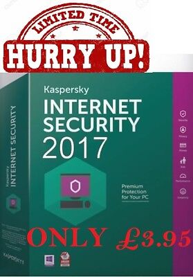 Kaspersky Internet Security 2017 1Pc/one Year | Download |Uk Eu Only
