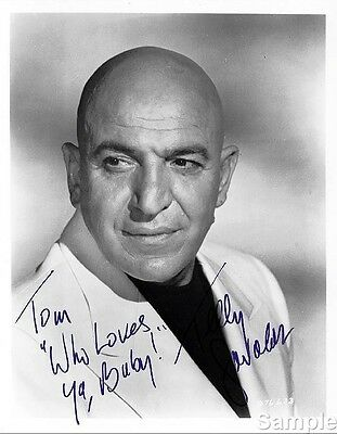 Telly Savalas Kojak Autograph Hand Signed Photo Preprint Glossy Portrait Picture
