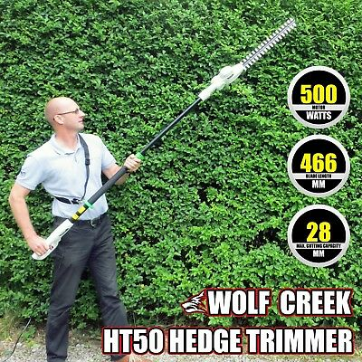 Long Reach Hedge Trimmer Telescopic 150 degree Rotating Head - electric 500 Watt