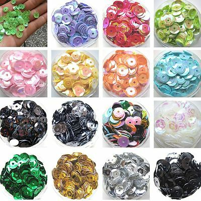 2000Pcs DIY Crafts Oval Round Cup Sequins Paillettes Loose AB 6mm Wedding Craft