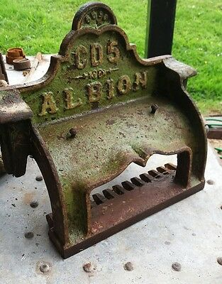 vintage cast iron sign Albion Leigh England steampunk industrial sign project