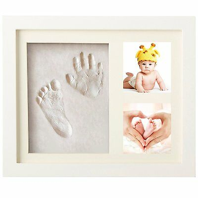 Newborn Baby Hand and Footprint Picture Frame Kit for Boys and Girls Creative Ba