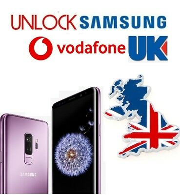 Unlock Code Samsung Galaxy Note 8 S9 Plus S8 A8 A3 J3 J5 Vodaphone Vodafone Uk