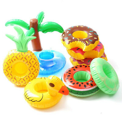 Cute Pool Water Inflatable Swim Floats Cup Holder Drink Holder Party Toy Boat