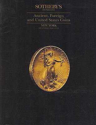 SOTHEBY'S Ancient, Foreign and United States Coins New York 8/9 December 1992