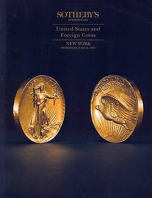 SOTHEBY'S United States and Foreign Coins Auction Catalog New York June 21 1995