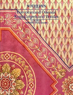 SOTHEBY'S European and Oriental Rugs, Carpets and Textiles London 7th March 1990