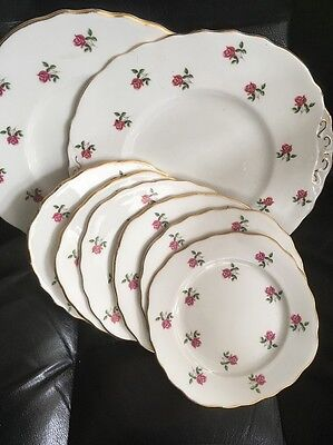 Vintage Colclough China Side Plates x 6 / Serving Plates. / Cake Wedding /Party