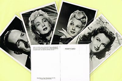 VICTORIA HOUSE, SOUTHPORT 1940s Film Star Postcards issued in UK (Cinema/Movie)