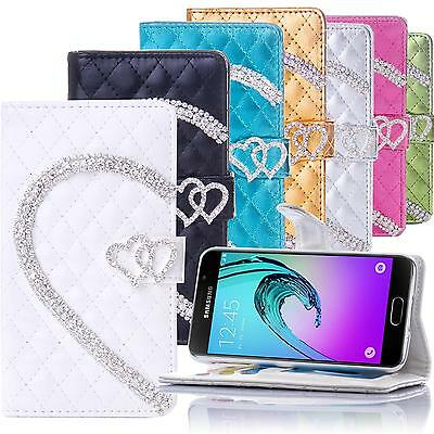 Bling Wallet For Samsung Galaxy Flip Cover Stand Case Glitter with Card Pocket