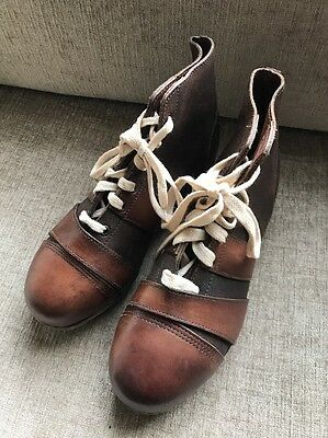 Antique Vintage Leather Collectible 1930's Football, Rugby Boots Immaculate
