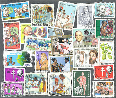 Medical and Medicine 50 all different selection stamps