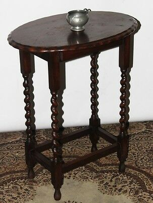 Antique English Oak Barley Twist Oval Occasional Table - FREE Shipping [PL3560]