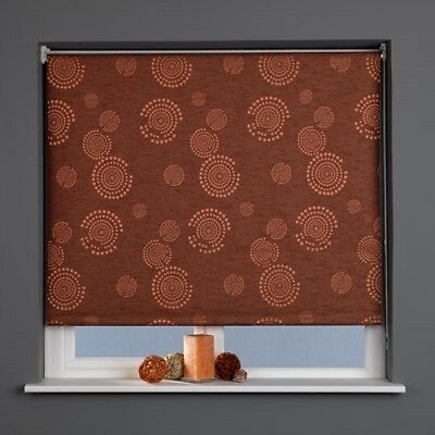 Patterned Blackout Roller Blinds Cosmic Russet Thermal Home Light Shutter Window
