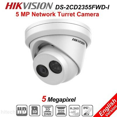 Hikvision DS-2CD2355FWD-I 5MP IP Security Camera H.265 WDR PoE Onvif Network