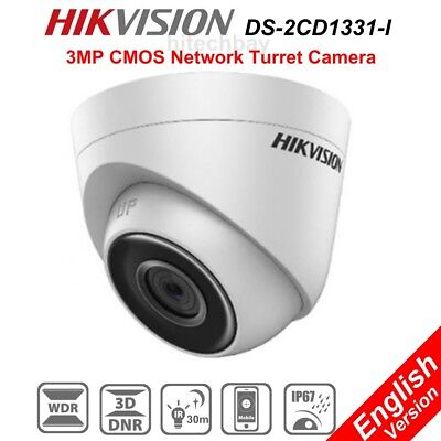 Hikvision DS-2CD1331-I 3MP IP Security Camera POE WDR Onvif IR-CUT IP67 Network