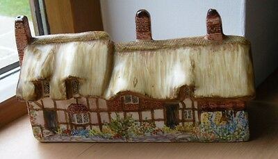 """Miniature 1983 Anne Hathaway's Cottage, Shattery - Signed 'M' 7"""" x 3"""" x 3.5"""" VGC"""