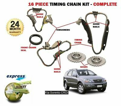 For Kia Sorento 2.5Td Crdi D4Cb 2003-2010 Timing Cam Chain Kit 16 Piece Complete