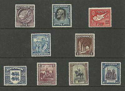 CYPRUS 1928 50th ANNIVERSARY OF BRITISH RULE SG123-131 MH (CYP123-131-1M)