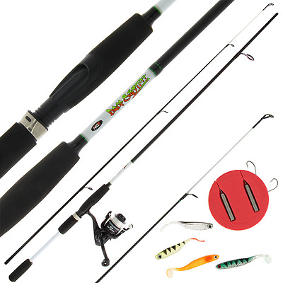 Carp Fishing Drop Shot Combo Kit 7ft Carbon Fibre Rod + Reel and Accessory Lures