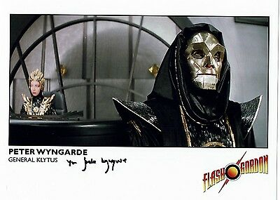 Peter Wyngarde Actor  Flash Gordon General Klytus Hand signed Photograph 10 x 8