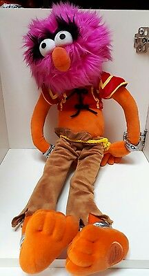 """ANIMAL large 21"""" rare plush soft toy THE MUPPET SHOW Disney Store Exclusive tag"""