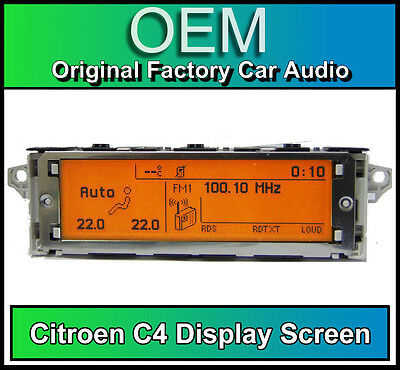 Citroen C4 display screen, RD4 radio LCD Multi function clock dash BRAND NEW!