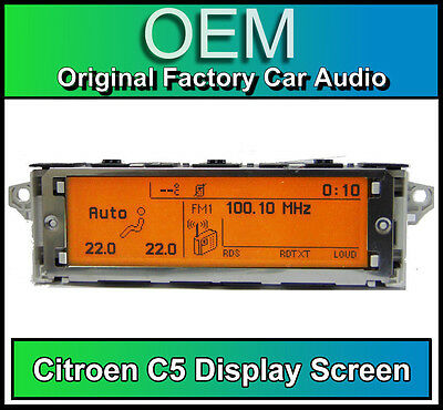 Citroen C5 display screen, RD4 radio LCD Multi function clock dash BRAND NEW!