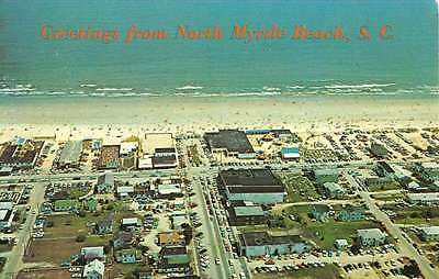 Myrtle Beach South Carolina Birdseye View Of City Vintage Postcard K62807
