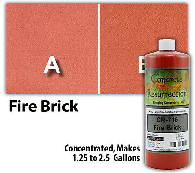 Professional Easy to Apply Water Based Concrete Stain - Fire Brick