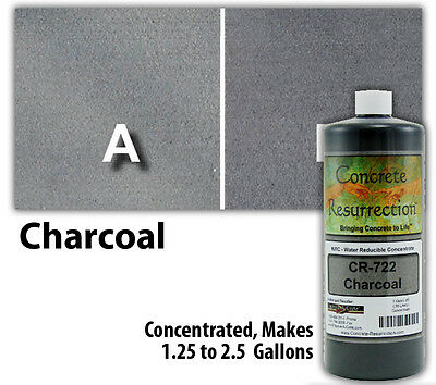 Concrete Resurrection Water Based Decorative Concrete Stain - Charcoal